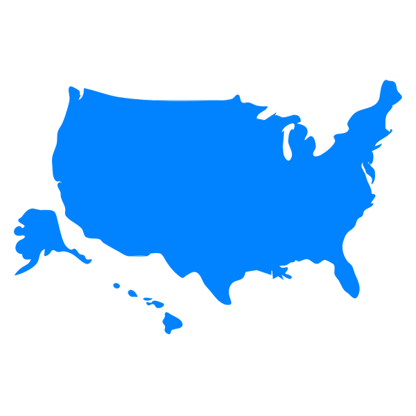 USA Map silhouette vector graphics