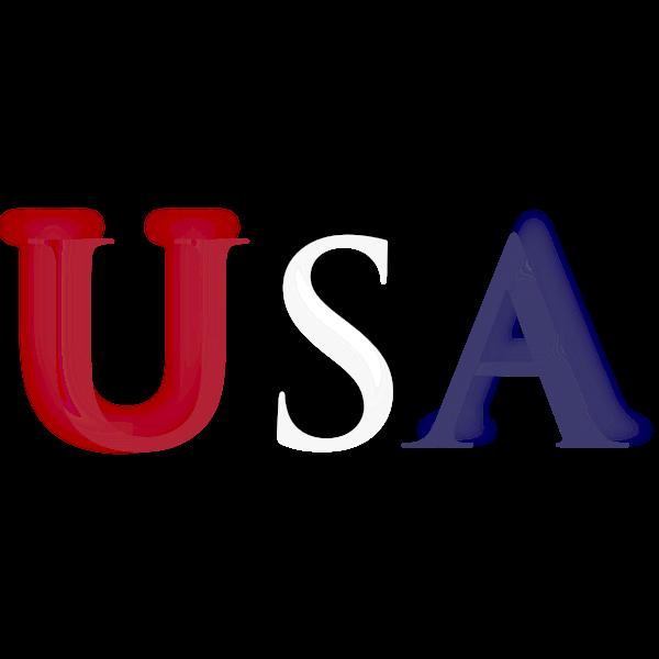 USA typography