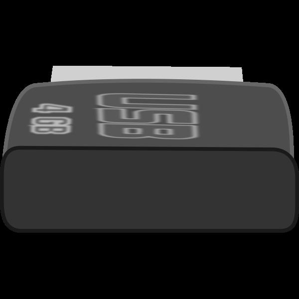 Memory stick files vector illustration