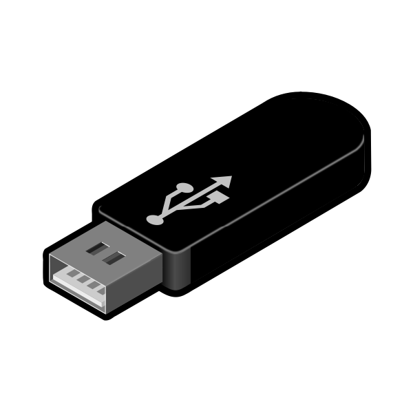 USB thumb drive 4 vector image
