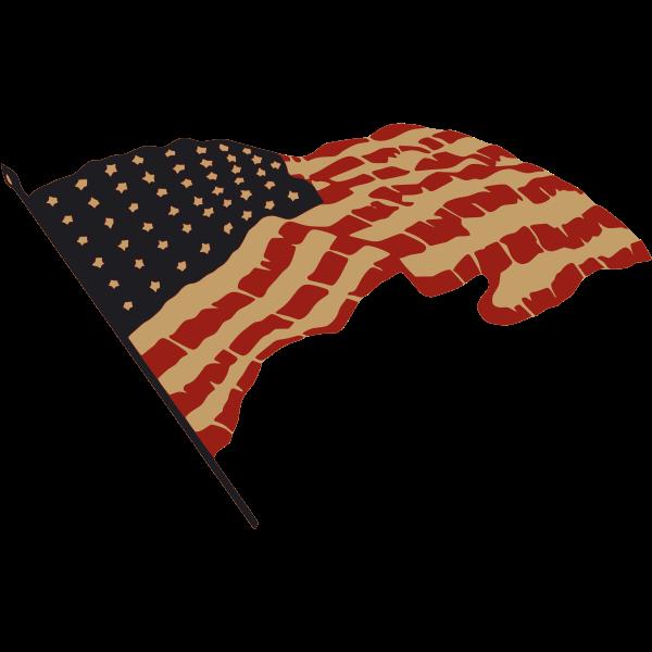 US flag vector drawing