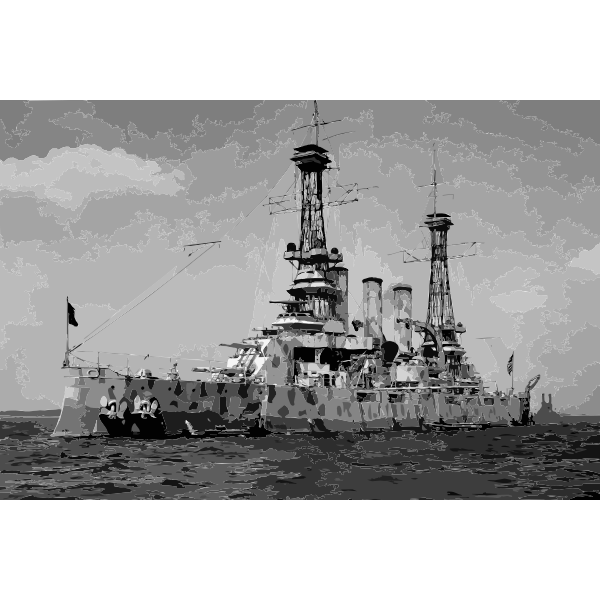 USS New Jersey BB 16 in camouflage coat 1918 edit 2016052940