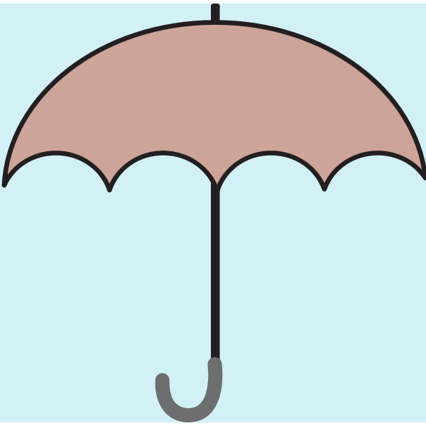 Brown umbrella