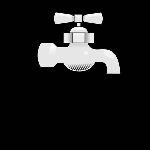 Water faucet vector image