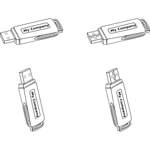 USB flash drives vector graphics
