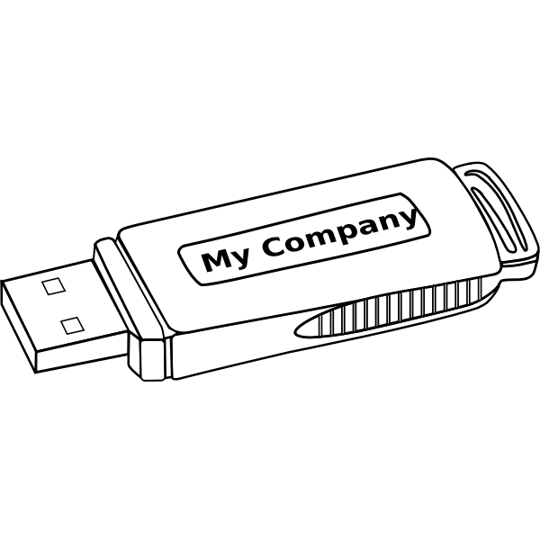 USB storage drive vector illustration