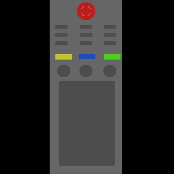 TV control vector image