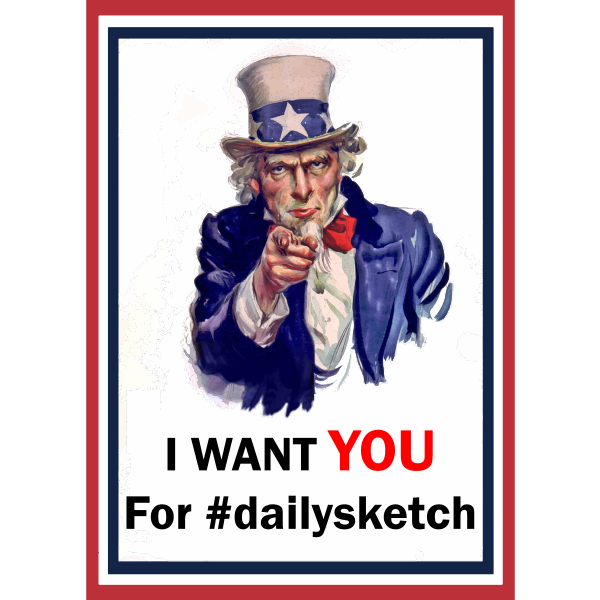 Uncle Sam for dailysketch