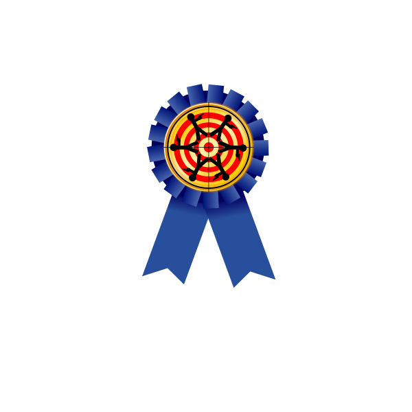 Shooting achievement reward medal vector image