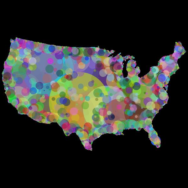 United States Map Geometric Pattern