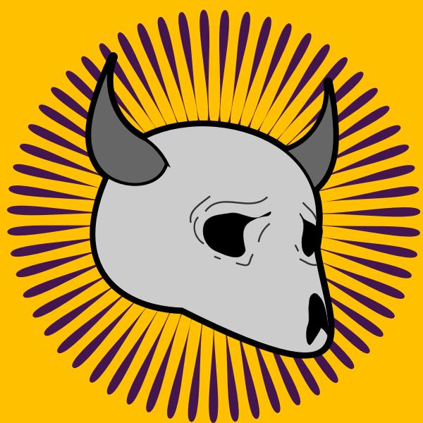 Vector image of animal skulls