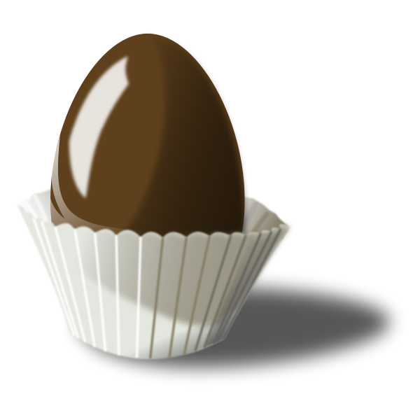 Vector illustration of chocolate egg