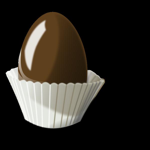 Vector illustration of chocolate egg