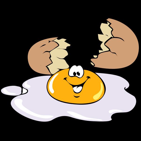 Cartoon broken egg vector illustration