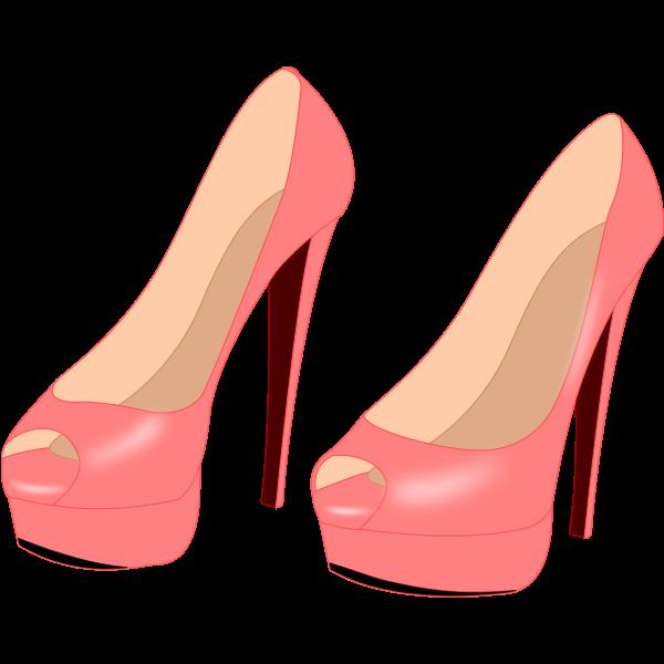Shiny pink stilettos