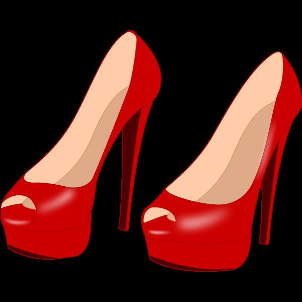Glossy red stilettos