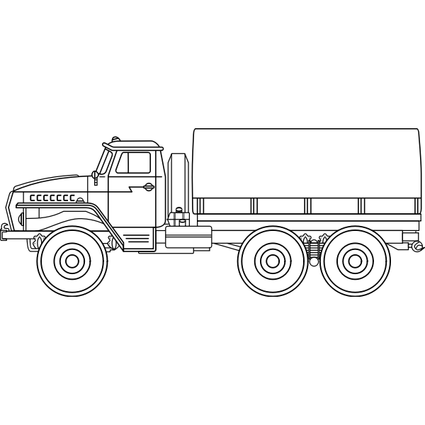 Ural-4320 army vehicle vector graphics