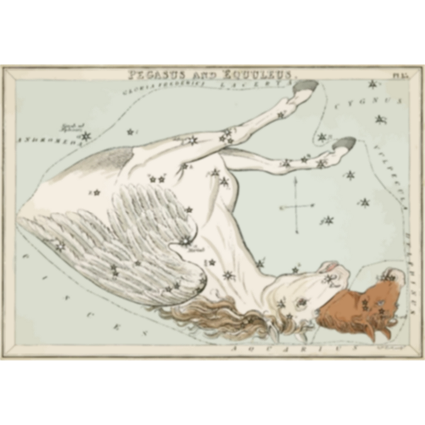 Old constellation chart