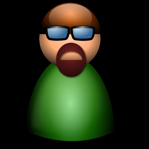 3D Glasses avatar vector illustration