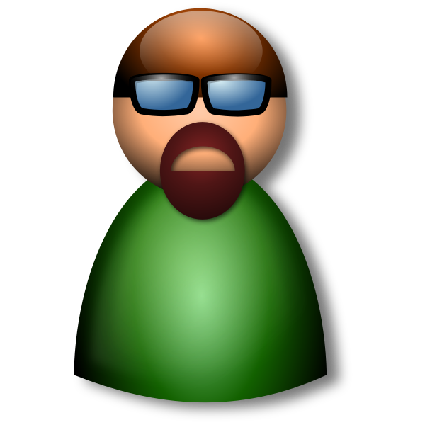 3D Glasses avatar vector illustration