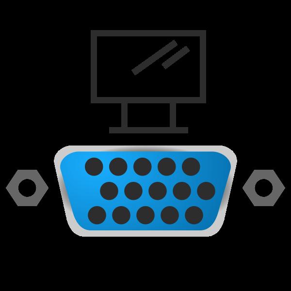 VGA port icon vector image