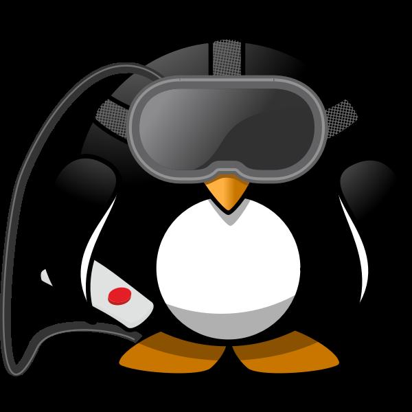 Virtual reality penguin