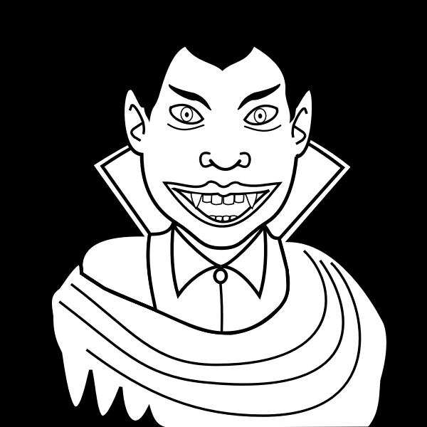 Vector clip art of smiling vampire guy