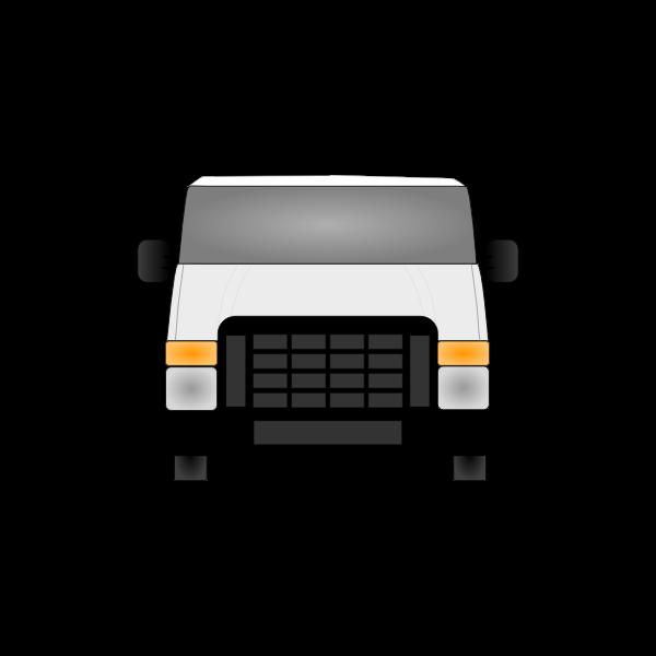 Vector illustration of front view of van