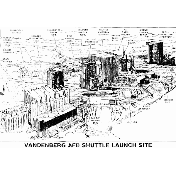 Vandenberg Shuttle Launch Pad Drawing
