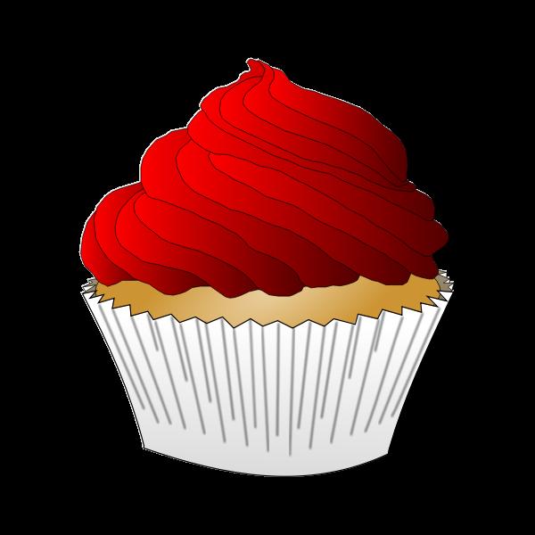 Vanilla Red Cupcake