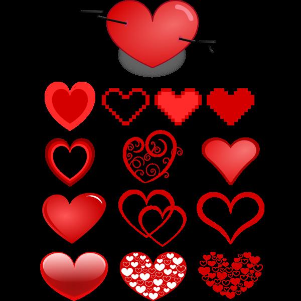 Variety of hearts