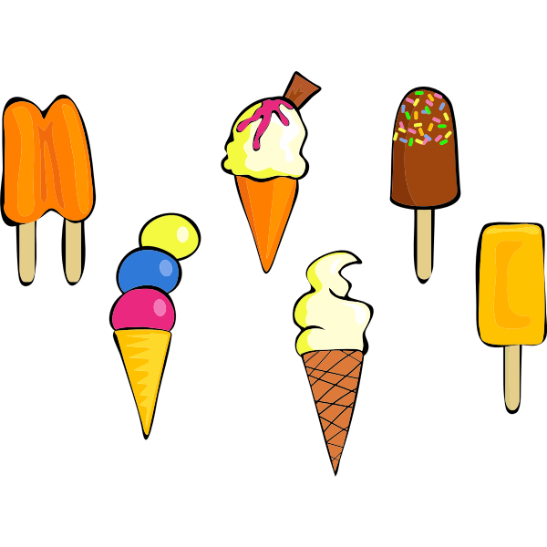 Different ice-creams