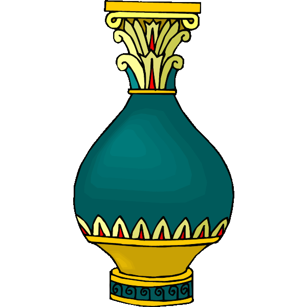 Colorful vase image