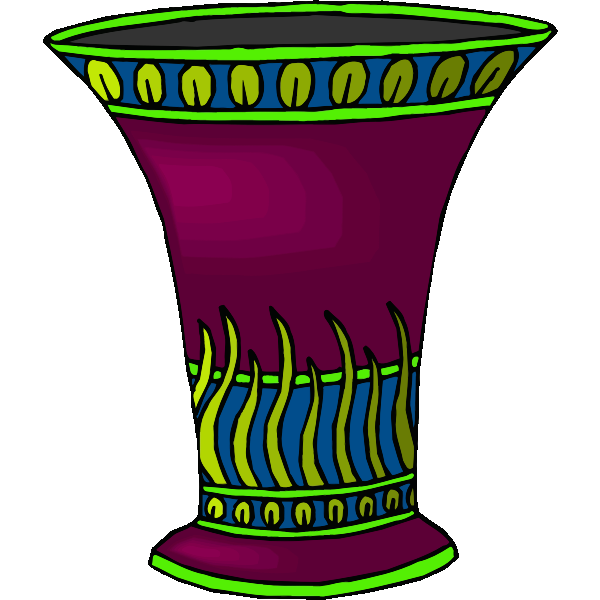 Purple and green vase