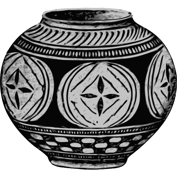 Gray vase image