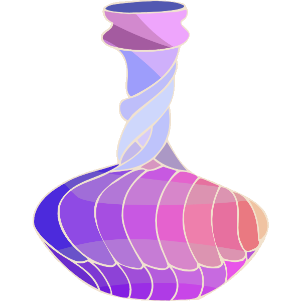 Colorful spiral vase
