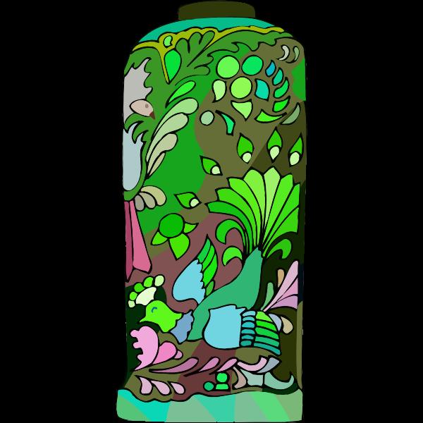 Bird on vase
