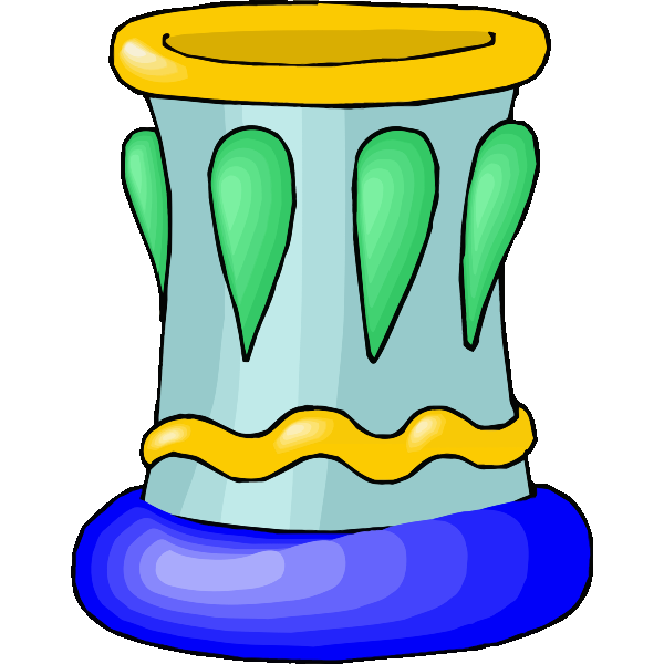 Blue-colored vase