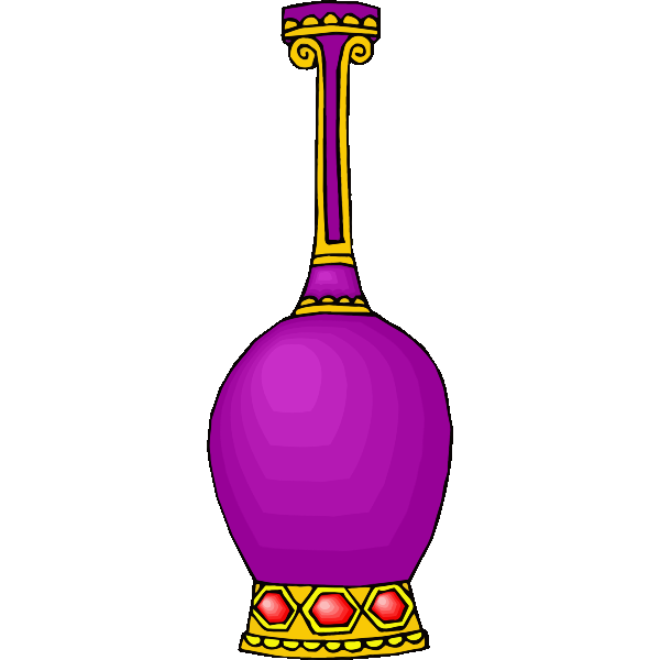 Purple decorative vase
