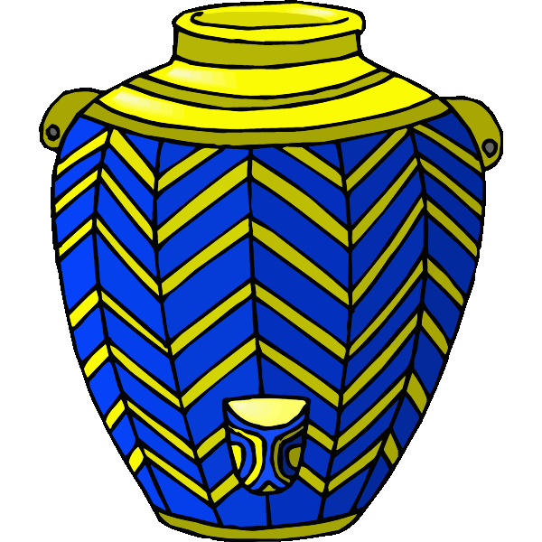 Blue and yellow jug