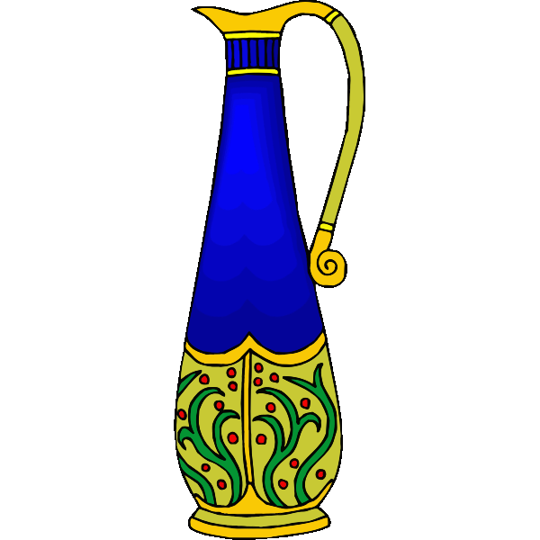 Decorated stylish jug
