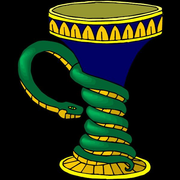Vase with snake