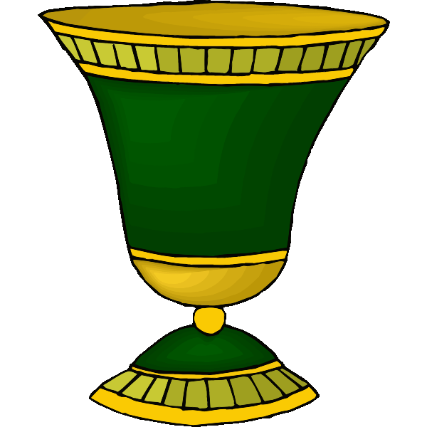 Green and golden cup