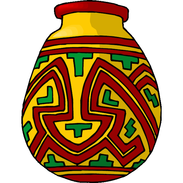 Red and yellow vase