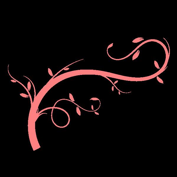 Pink plant stem vector image