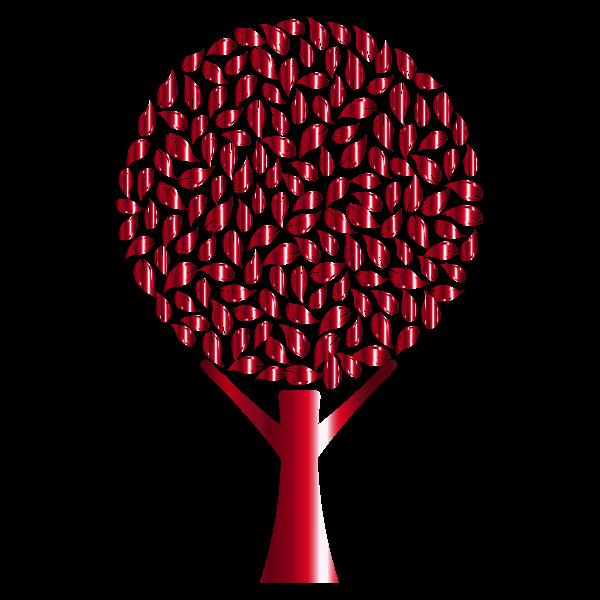 Red metallic tree