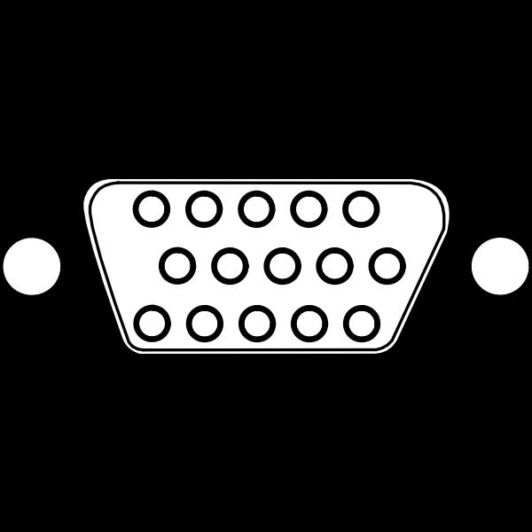 VGA connector with 15 Poles vector image