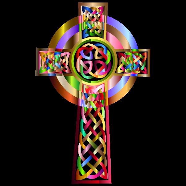 Vibrant Celtic Cross