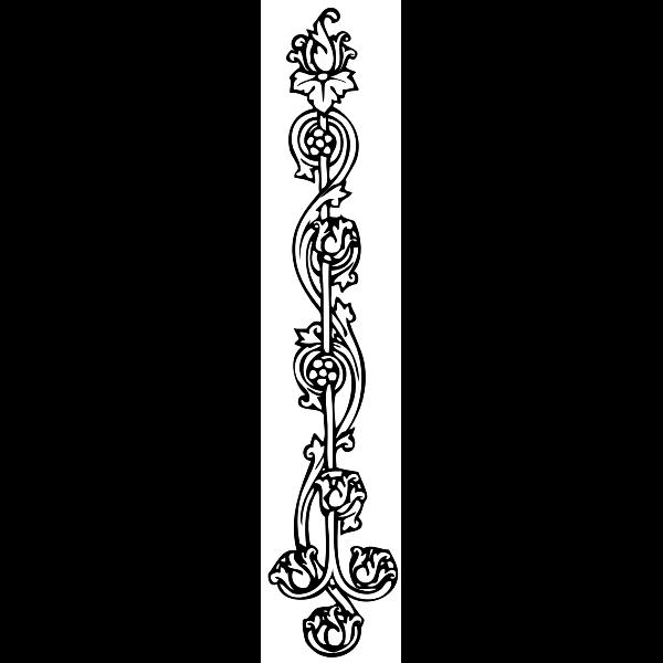 Flowery pin