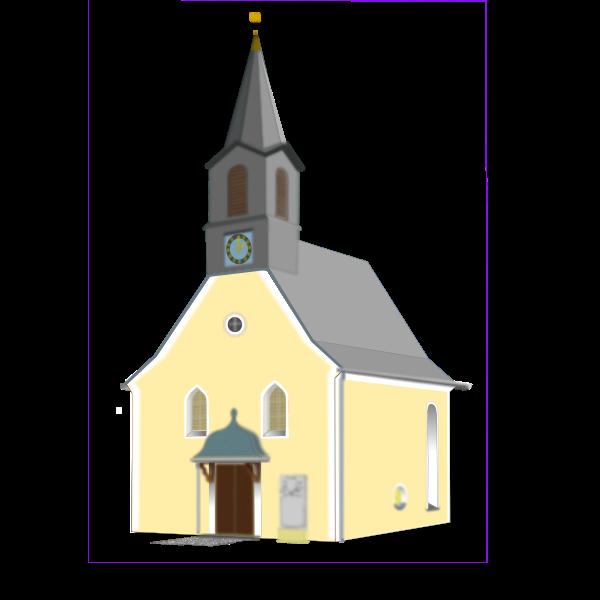 Village church vector drawing
